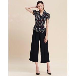 Diane von Furstenberg floral blouse